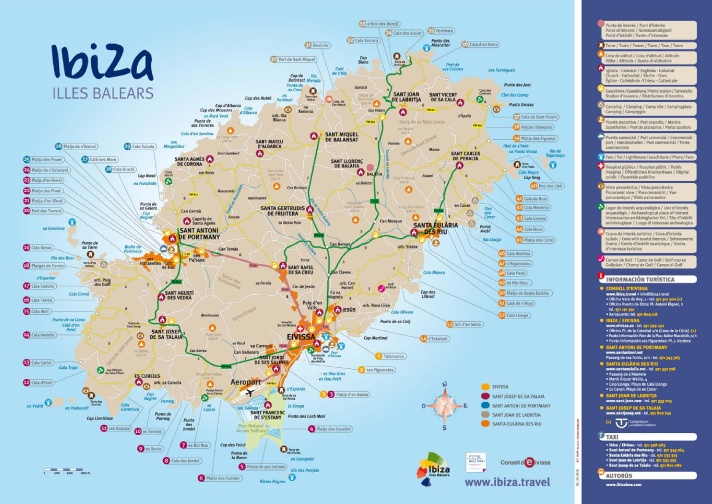 Practical information Ibiza Road Map