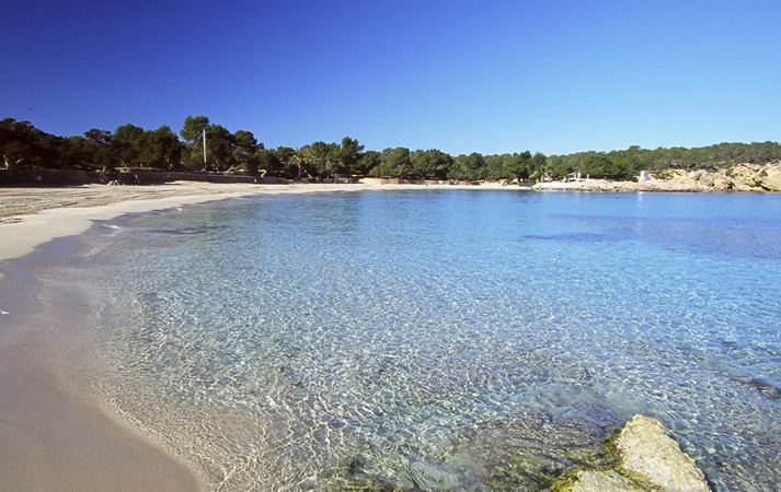 Cala Bassa beach Ibiza rent a car hire