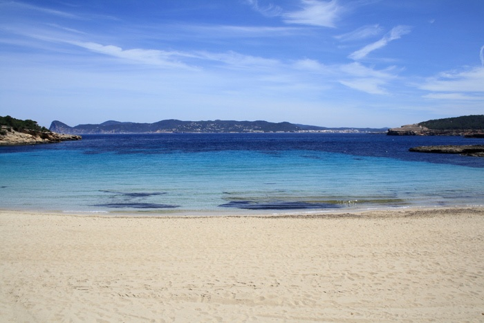 Cala Bassa beach Ibiza rent a car hire a car