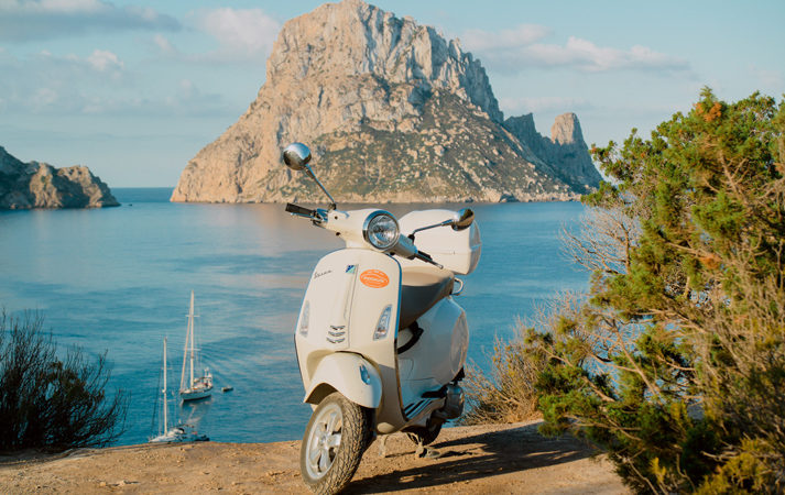 Vespa route in Ibiza hire rent a car
