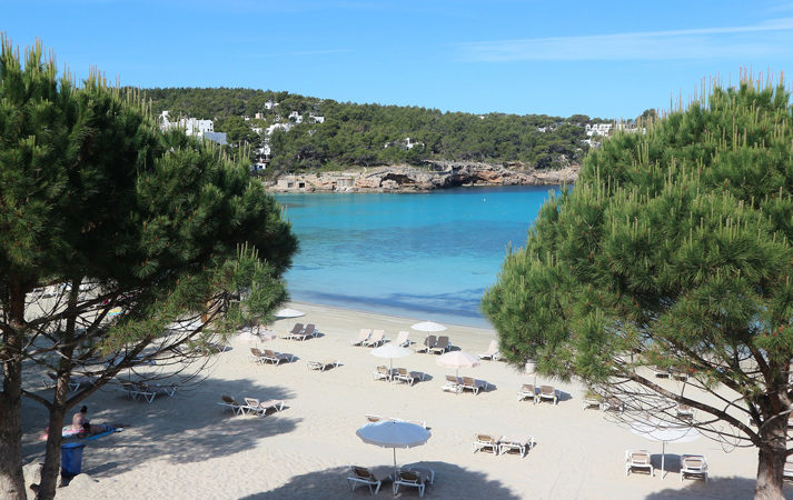 best Ibiza beaches Portinatx rental car Ibiza family holidays