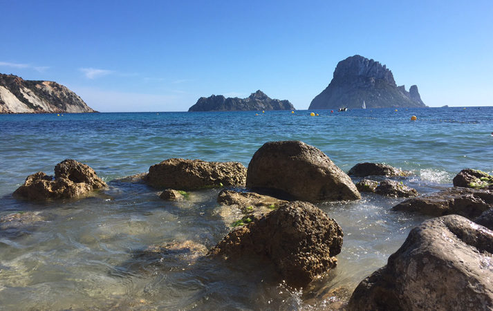Ibiza's beaches cala d´hort rent a car Ibiza