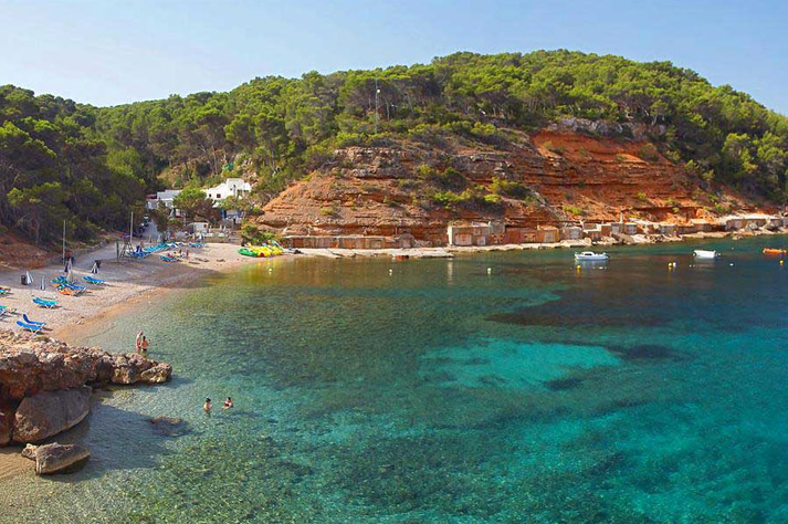 route of the boathouses of Ibiza