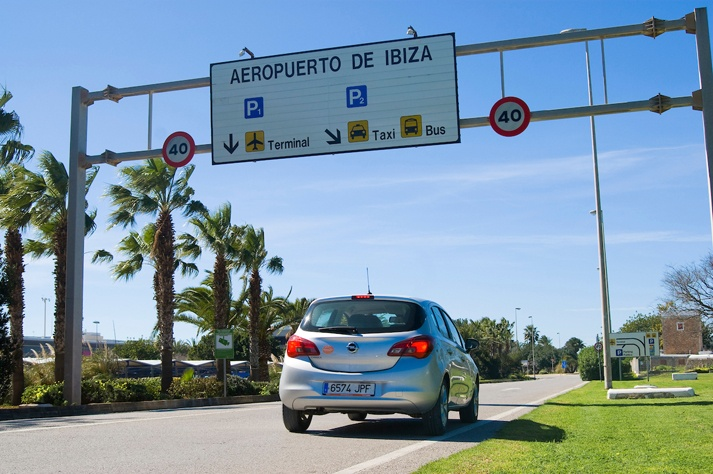 delivery car rental ibiza airport parking terminal