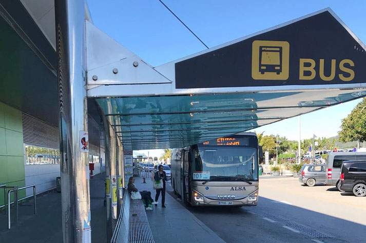 Transportation from Ibiza airport by bus